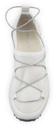 Jimmy Choo Andrea Strappy Mesh Sneakers