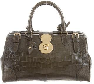 Ralph Lauren Crocodile Ricky Doctor Bag $2,975 thestylecure.com