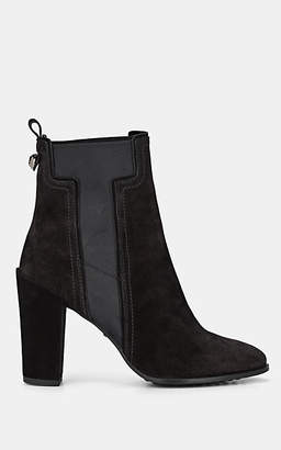 Tod's Women's Suede Chelsea Boots - Black