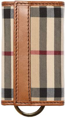 Burberry Check Canvas & Leather Key Holder