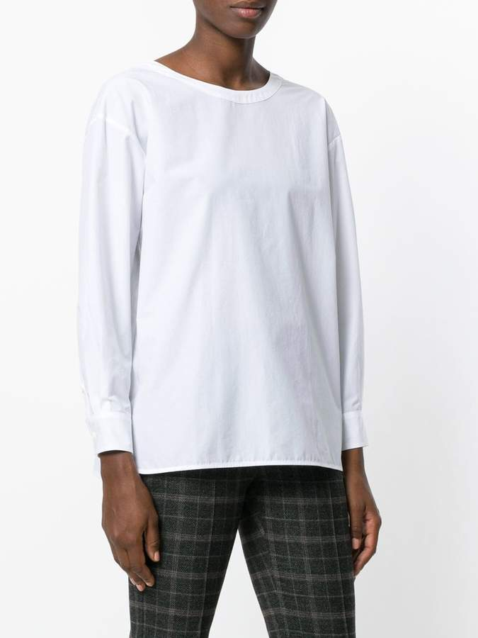 Hache oversized long-sleeved top