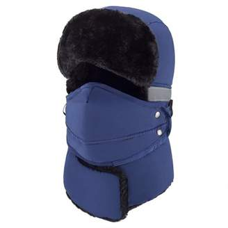 JOVIVI Winter Windproof Trapper Hat for Men Warm Hats for Men Outdoor Skiing Sport (Dark Blue)