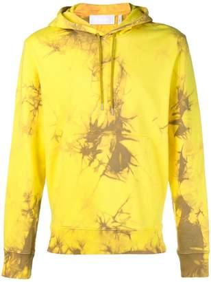 Helmut Lang tie-dyed logo hoodie