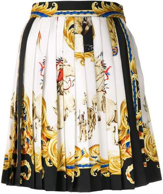 Versace baroque pleated mini skirt