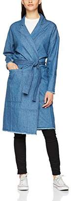 Minimum Women's Majbrit 0017 Denim Jeans Coat,(Manufacturer Size:42)