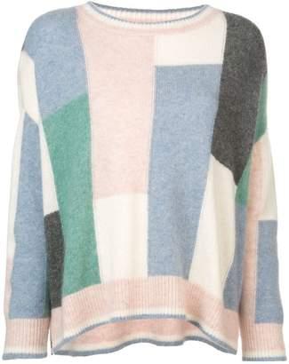ADAM by Adam Lippes colour-block flared sweater