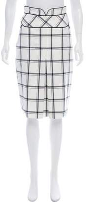 Alvin Valley Plaid Pencil Skirt