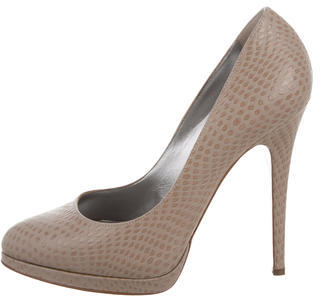 Casadei Embossed Pointed-Toe Pumps $75 thestylecure.com