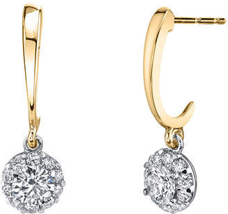 Sirena 1/2 CT. T.W. Genuine White Diamond 14K Gold Drop Earrings