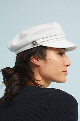Anthropologie White Engineer Hat