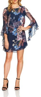 Women's Cece Ashley Bell Sleeve Shift Dress $128 thestylecure.com