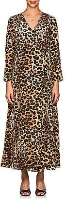Leone WE ARE Women's Leopard-Print Silk Maxi Wrap Dress
