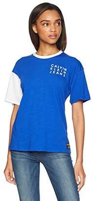 Calvin Klein Jeans Women's Logo Slub T-Shirt