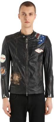 Hand-Painted Vintage Leather Jacket
