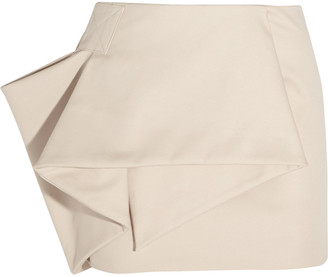 Marc by Marc Jacobs Folded stretch cotton-blend mini skirt $480 thestylecure.com