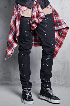 Forever 21 Bleach Dye Pull Ring Jeans