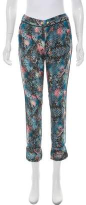 Zadig & Voltaire Animal Print Mid-Rise Pants