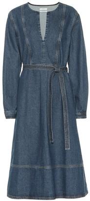 Co Belted denim dress
