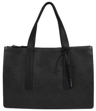 T Tahari Bella Perforated Large Tote Bag
