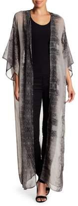 Love + Harmony 3/4 Sleeve Woven Kimono