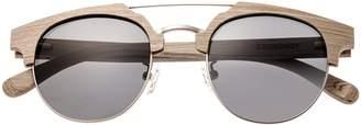Earth Wood Earthwood Kai Wood Sunglasses Polarized Cateye Grey//Black 47 mm 1