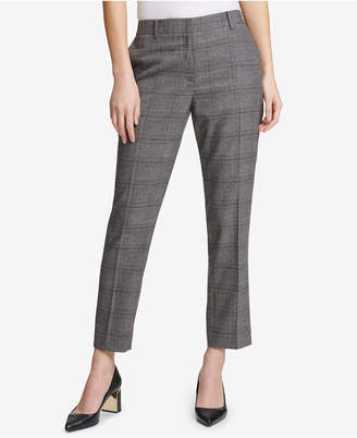 DKNY Plaid Skinny Ankle Pants