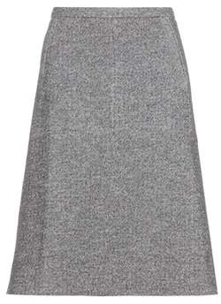 Tomas Maier Cotton and wool-blend skirt