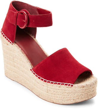 Marc Fisher Red Alida Platform Espadrille Sandals