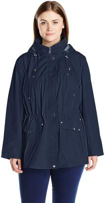 Weathertamer Weather Tamer Women's Plus-Size Water Resistant Anorak