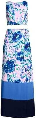 Lilly Pulitzer Two-Piece Jemma Floral Print Set