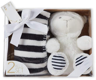 Baby Essentials Lila & Jack Two-Piece Lamb Plush Toy & Blanket Gift Set