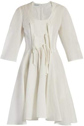 J.W.Anderson Knotted-tie balloon-sleeve cotton-blend dress