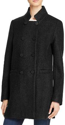T Tahari Harper Double-Breasted Front Coat