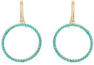 Jennifer Meyer Women's Turquoise Open Circle Drop Earrings