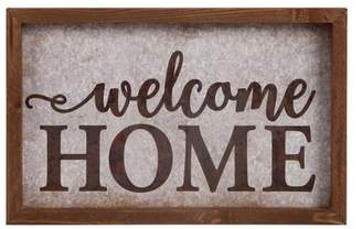Gracie Oaks Tin and Timber - Welcome Home Wall Dcor