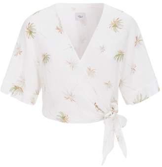 Rails Palm Tree Print Shirt
