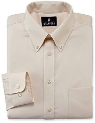 STAFFORD Stafford Travel Wrinkle-Free Oxford Dress Shirt-Big & Tall
