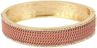 Nicole Miller Nicole By Gold Tone Bangle Bracelet