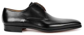 Magnanni Black Leather Derby Shoes