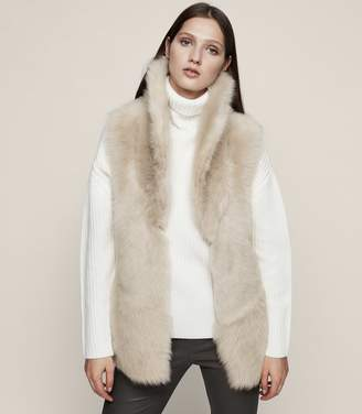 Reiss Lille Reversible Shearling Gilet