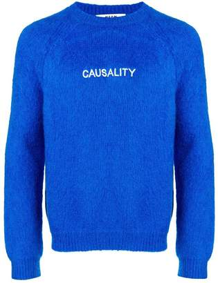 MSGM causality embroidered jumper