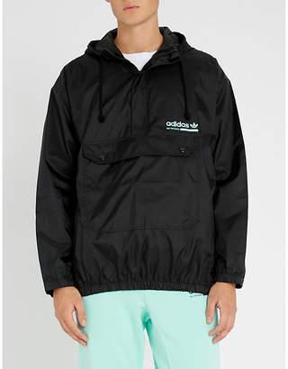adidas Kaval logo-print shell jacket