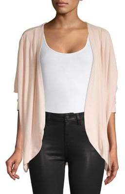 Bobeau B Collection by Zoey Faux Pearl-Trimmed Cardigan