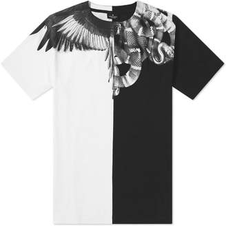 Marcelo Burlon County of Milan Split Snakes Wings Shoulder Tee