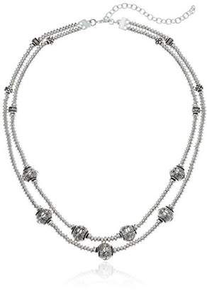 Napier Women's With Light Antique Multirow Necklace