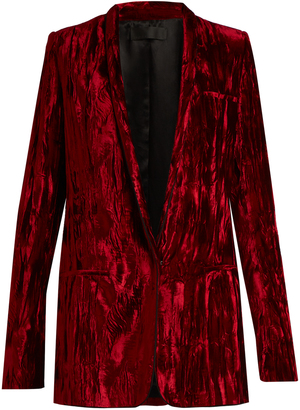 HAIDER ACKERMANN Madame single-breasted velvet jacket $1,617 thestylecure.com