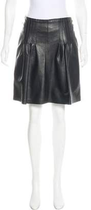 Markus Lupfer Leather Knee-Length Skirt