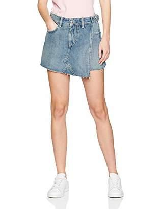 GUESS Women's Skort Buckles Short,8 (Size: 27)