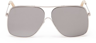 Victoria Beckham 'Loop Navigator' metal square aviator sunglasses