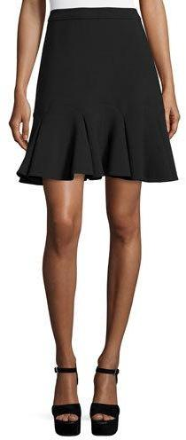 Kate Spade New York High-Waist Crepe Mini Skirt, Black